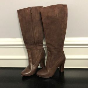Cole Haan Size 6.5 Chocolate Suede & leather Boots